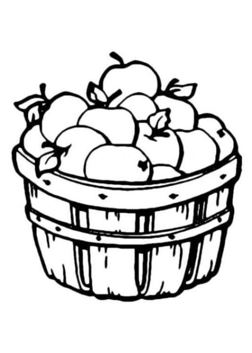 Malvorlagen zum Drucken Ausmalbild Apfel kostenlos 2