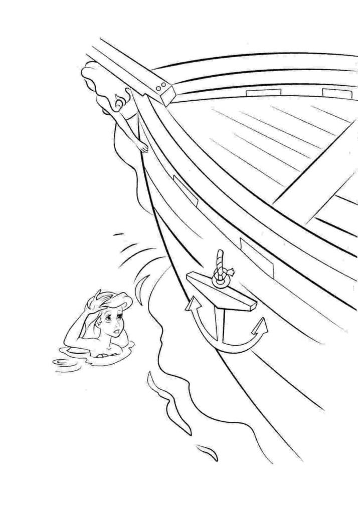 Ausmalbild Arielle, die Meerjungfrau kostenlos 2
