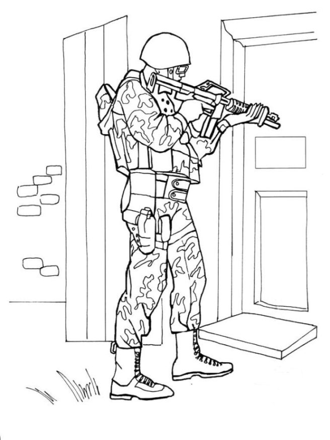 Malvorlagen zum Drucken Ausmalbild Armee kostenlos 1