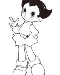 Ausmalbild Astro Boy kostenlos 1