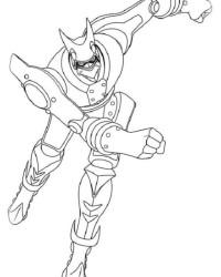 Ausmalbild Astro Boy kostenlos 3