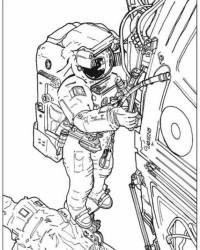 Ausmalbild Astronaut kostenlos 1