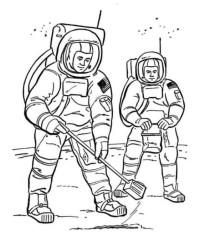 Ausmalbild Astronaut kostenlos 2