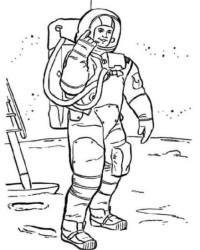 Ausmalbild Astronaut kostenlos 3