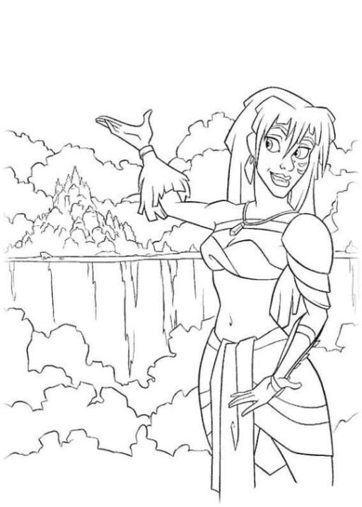 Ausmalbild Atlantis kostenlos 2