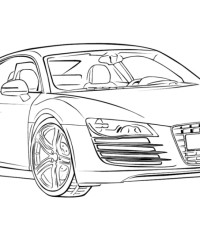 Ausmalbild Audi kostenlos 2