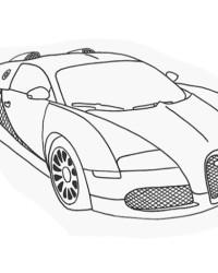 Ausmalbild Autos kostenlos 4