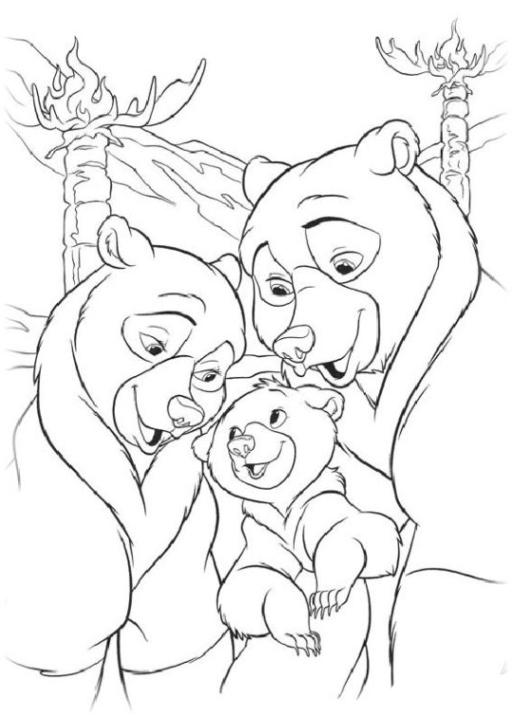 Malvorlagen zum Drucken Ausmalbild Bärenbrüder 2 kostenlos 2