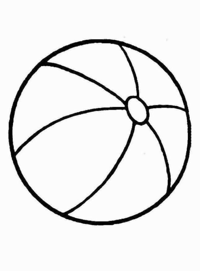 Malvorlagen zum Drucken Ausmalbild Ball kostenlos 1