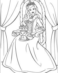 Ausmalbilder Von Barbie Die Prinzessin Und Das Dorfmädchen Kostenlos
