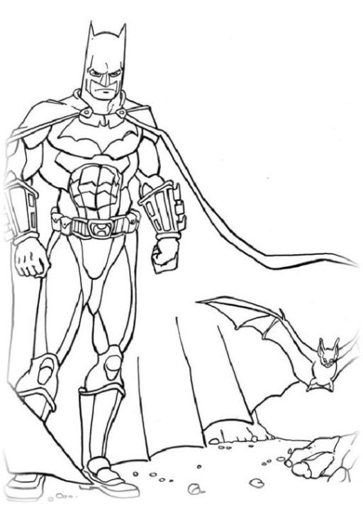 Malvorlagen Zum Drucken Ausmalbild Batman Kostenlos 2