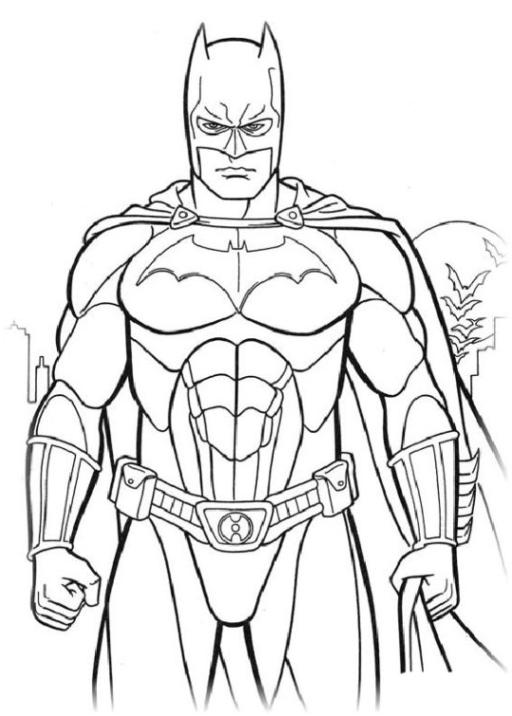 Malvorlagen Zum Drucken Ausmalbild Batman Kostenlos 3
