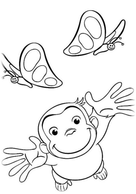 Malvorlagen zum Drucken Ausmalbild Coco Der neugierige Affe