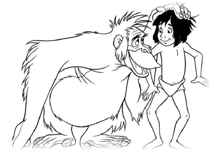 Malvorlagen Zum Drucken Ausmalbild Das Dschungelbuch Kostenlos 1