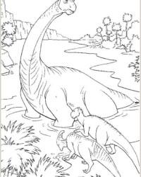 Ausmalbild Dinosaurier kostenlos 1