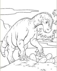 Ausmalbild Dinosaurier kostenlos 3