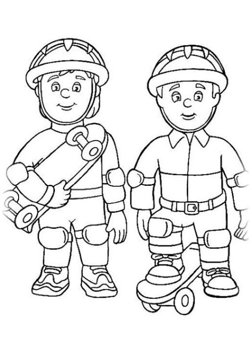 Malvorlagen Zum Drucken Ausmalbild Feuerwehrmann Sam Kostenlos 2