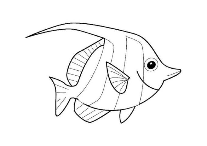 Ausgezeichnet Malvorlage Eines Fisches Fotos ...