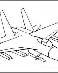 Ausmalbild Flugzeug kostenlos 3