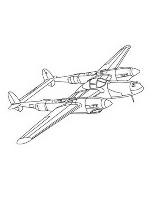 Ausmalbild Flugzeug kostenlos 4