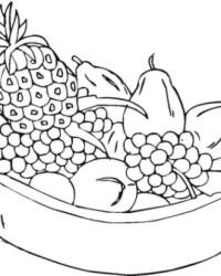 Ausmalbild Früchte Obst und Beere kostenlos 2