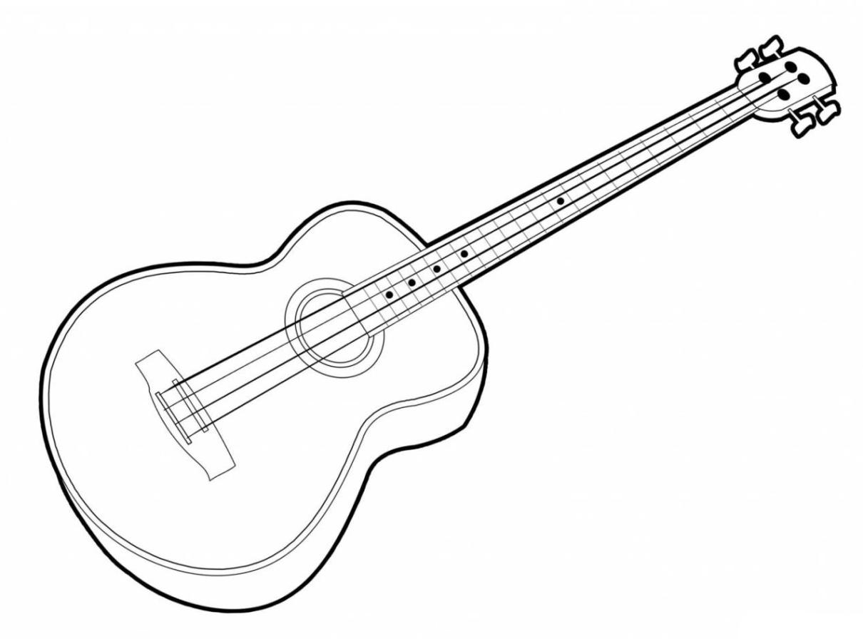 gitarren bilder zum ausdrucken  ausmalbilder