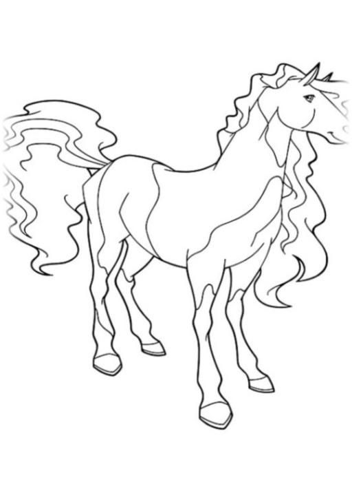 Malvorlagen zum Drucken Ausmalbild Horseland kostenlos 3