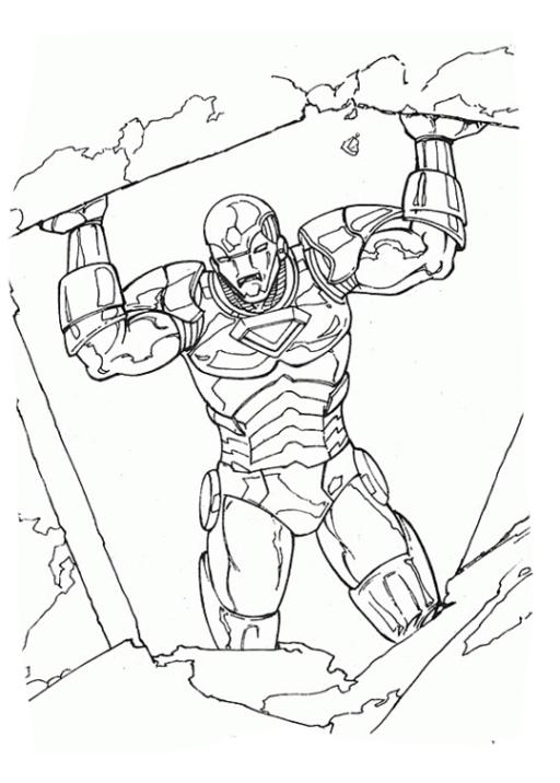 Malvorlagen Zum Drucken Ausmalbild Iron Man Kostenlos 4
