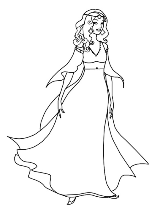 malvorlagen zum drucken ausmalbild königin kostenlos 1