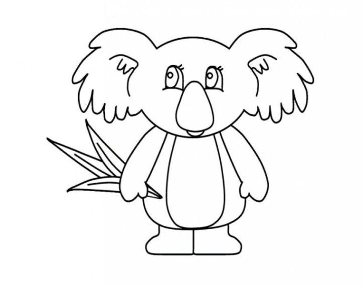 Malvorlagen Zum Drucken Ausmalbild Koala Kostenlos 3