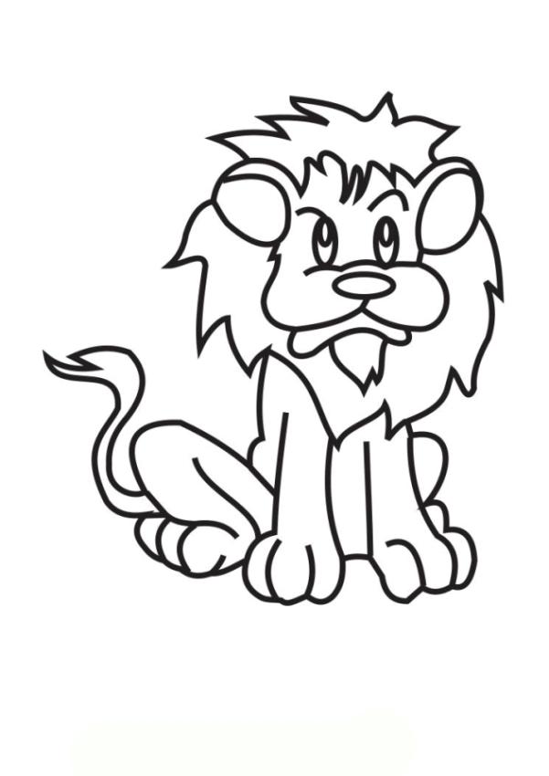 malvorlagen zum drucken ausmalbild löwe kostenlos 2