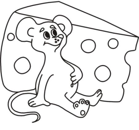 Ausmalbild Maus kostenlos 4