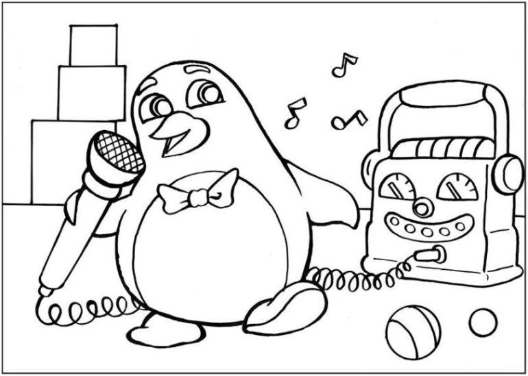 Ausmalbild Pinguin kostenlos 3