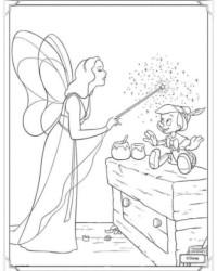 Ausmalbild Pinocchio kostenlos 1