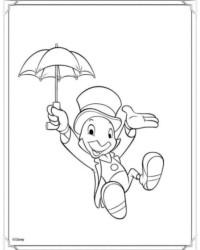 Ausmalbild Pinocchio kostenlos 2