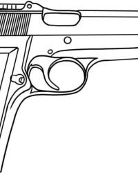 Ausmalbild Pistole kostenlos 2