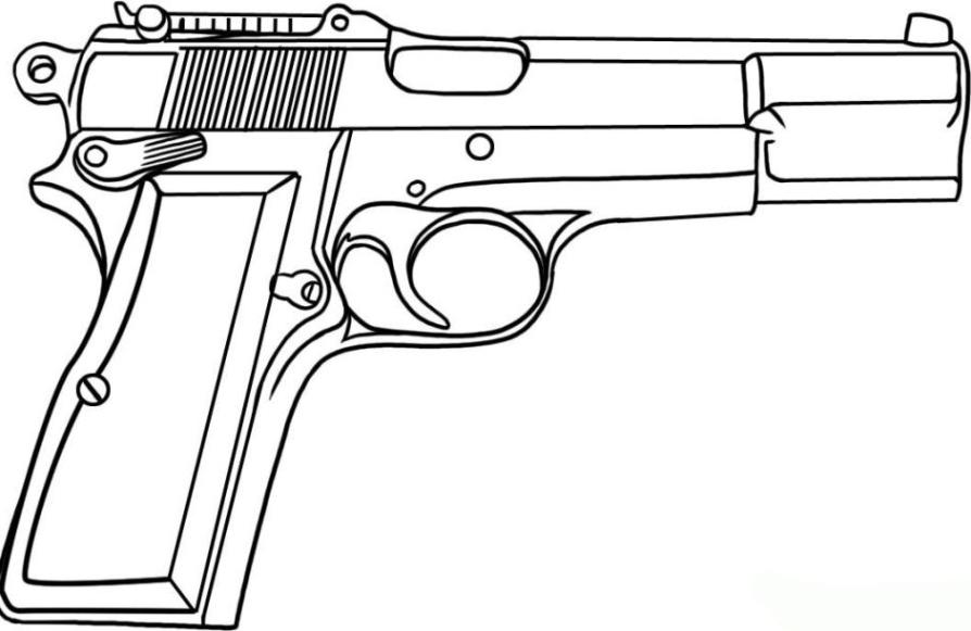 malvorlagen zum drucken ausmalbild pistole kostenlos 2
