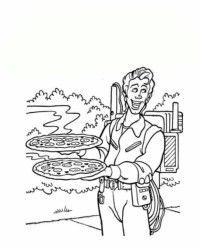 Ausmalbild Pizza kostenlos 1