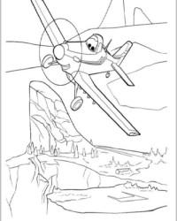 Ausmalbild Planes Disney Flugzeuge kostenlos 1