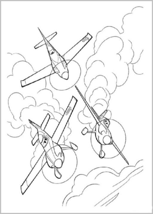 Ausmalbild Planes Disney Flugzeuge kostenlos 2