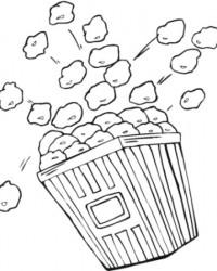 Ausmalbild Popcorn kostenlos 2