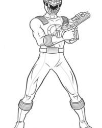 Ausmalbild Power Rangers kostenlos 2