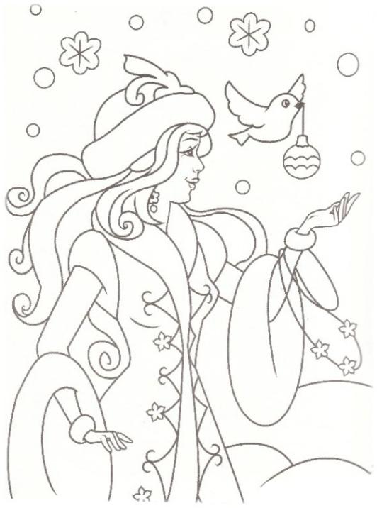 Malvorlagen Zum Drucken Ausmalbild Prinzessin Winter Kostenlos 1