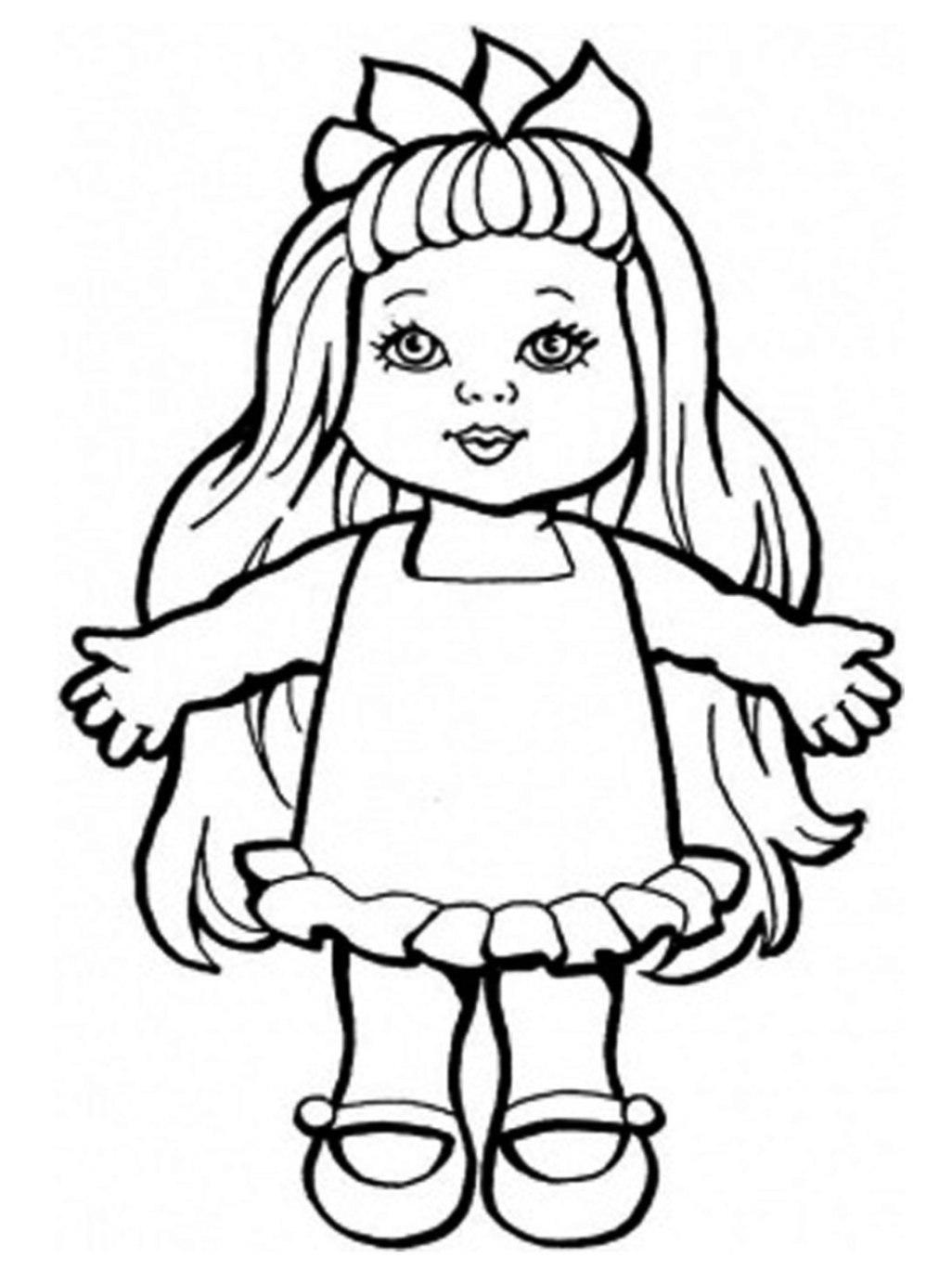 Malvorlagen zum Drucken Ausmalbild Puppe kostenlos 1