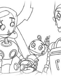 ausmalbilder von roboter kostenlos zum ausdrucken