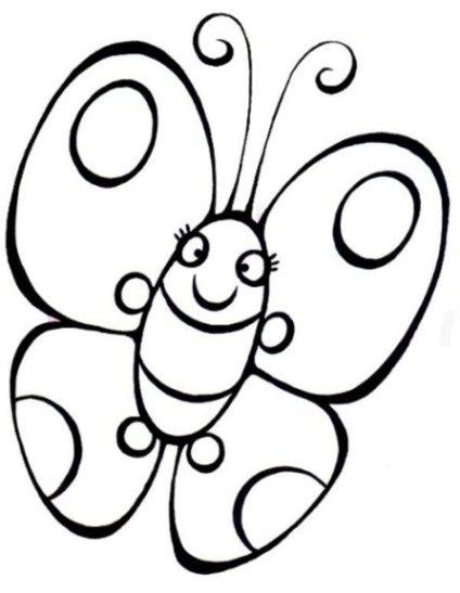 Ausmalbild Schmetterling kostenlos 3