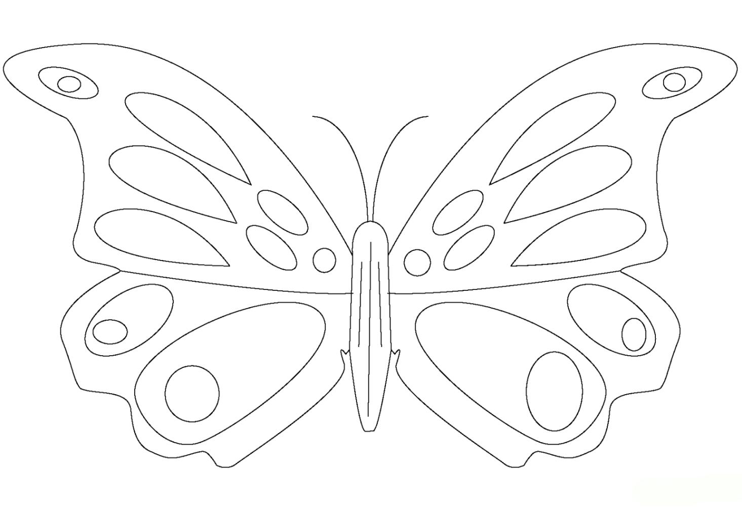 Malvorlagen zum Drucken Ausmalbild Schmetterling kostenlos 4
