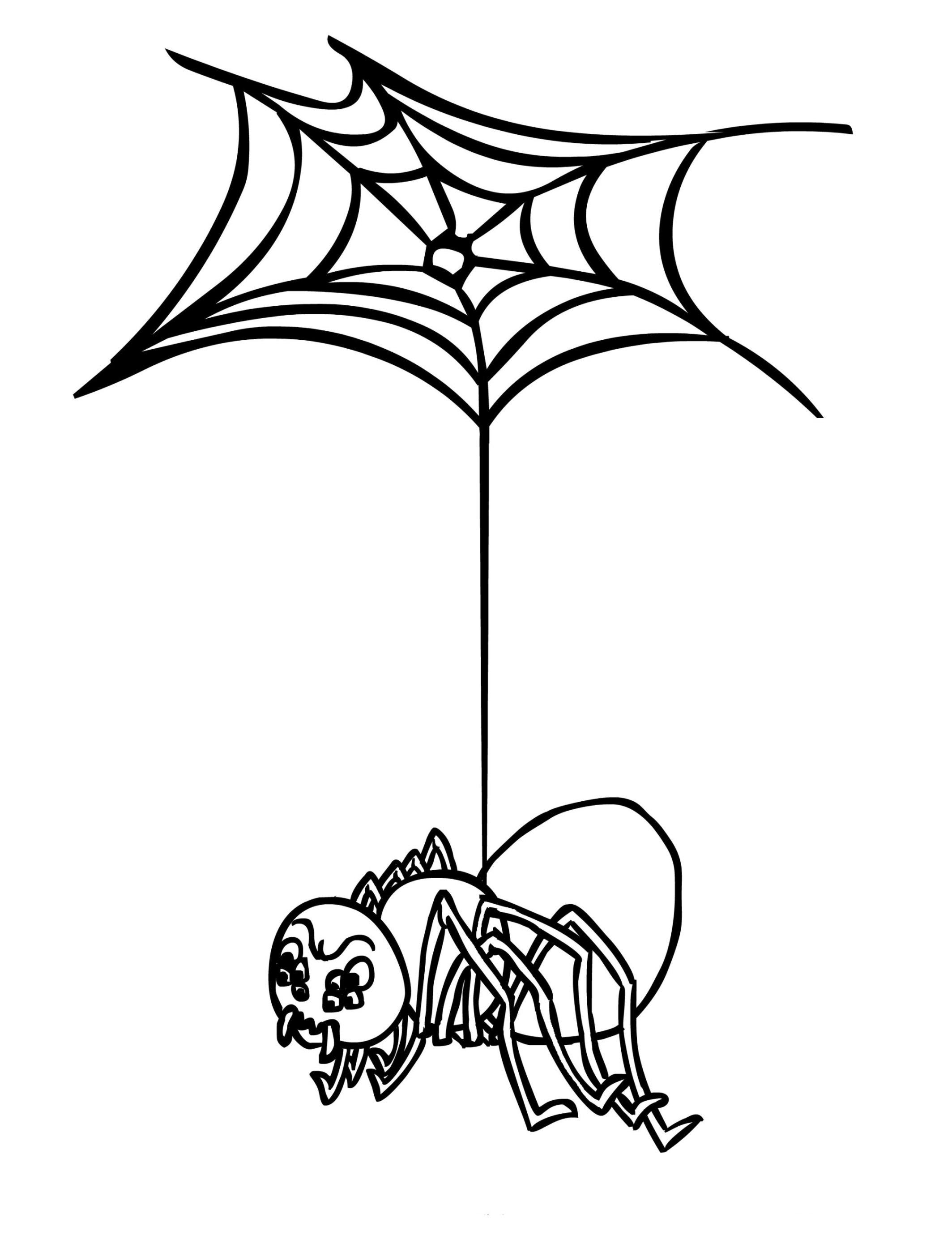Malvorlagen zum Drucken Ausmalbild Spinne kostenlos 2