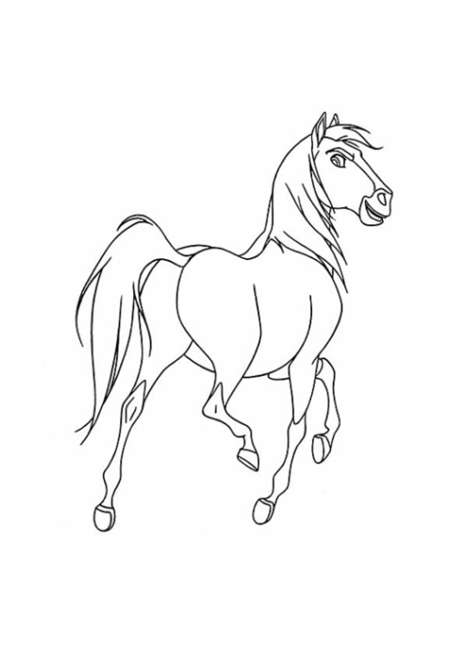Malvorlagen Zum Drucken Ausmalbild Spirit Der Wilde Mustang