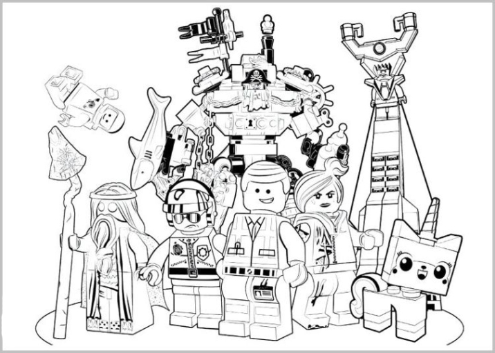 Malvorlagen Zum Drucken Ausmalbild The Lego Movie Kostenlos 2